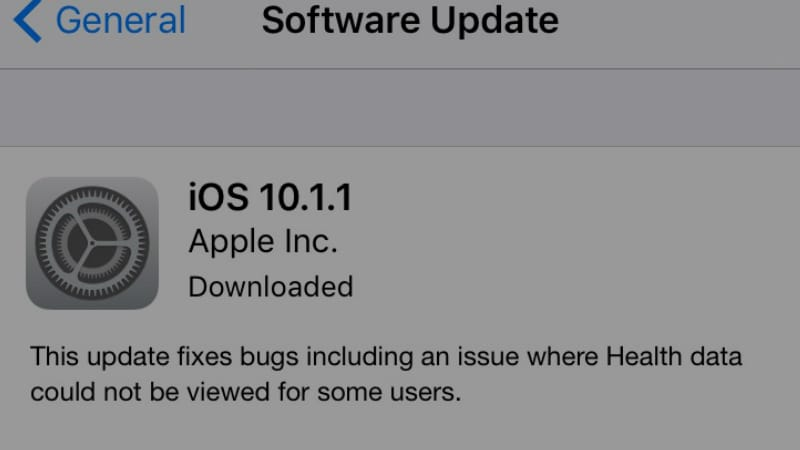 iOS 10.1.1 Now Available to Download, Brings Bug Fixes for Health App and More