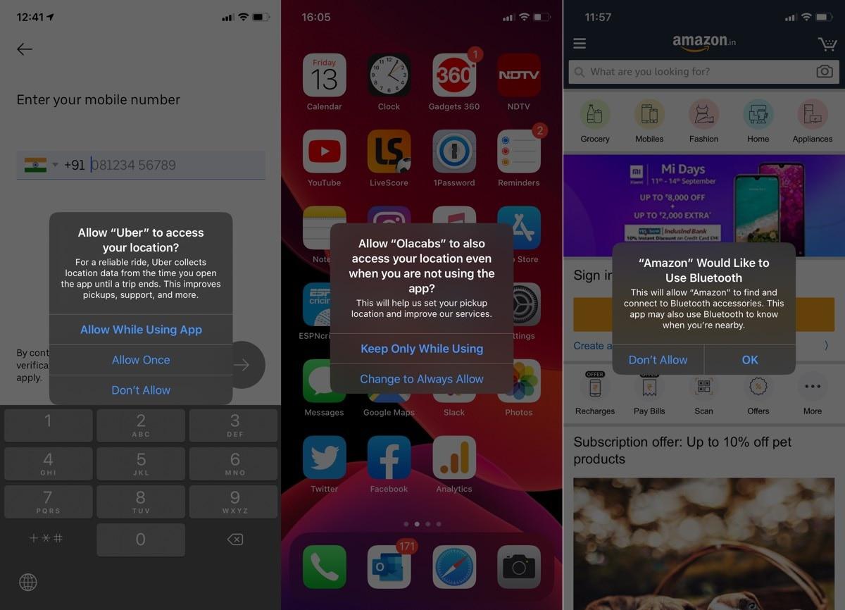 iOS 13 गोपनीयता अलर्ट iOS 13 समीक्षा