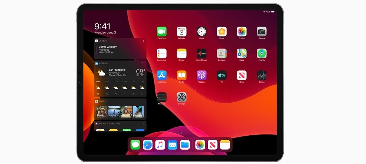 iPadOS dark mode iPadOS