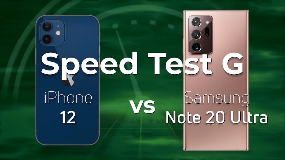 iPhone 12 Beats Samsung Galaxy Note 20 Ultra in Speed Test G by a Clear Margin