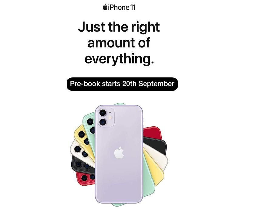 Apple iPhone 11 Pre Orders Begin 20 September 2019 on Amazon