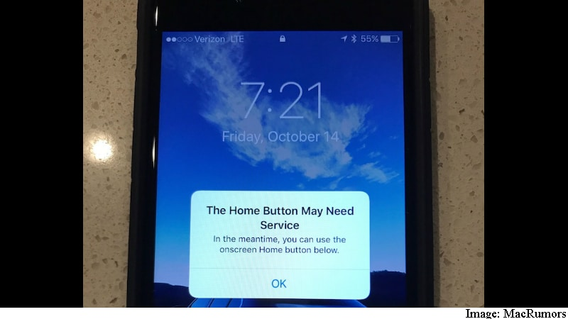 iPhone 7 Serves a Temporary Onscreen Button in Case Home Button Fails