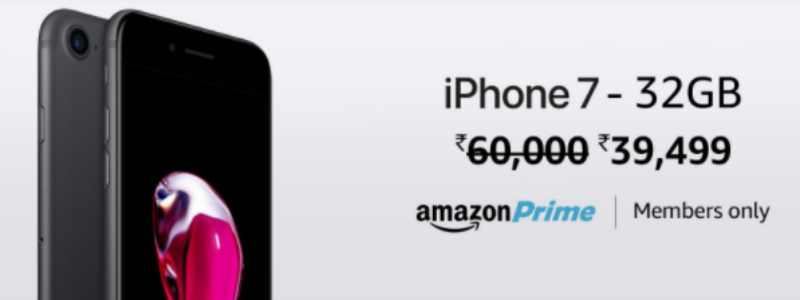 Amazon India Offers iPhone 7 at Rs  39,499, Takes on