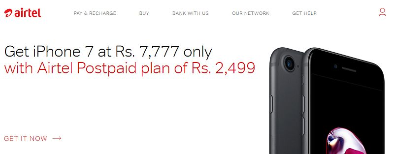 iPhone 7 Rs. 7777 Offer Airtel Online Store Airtel iPhone 7 Offer Rs. 7777