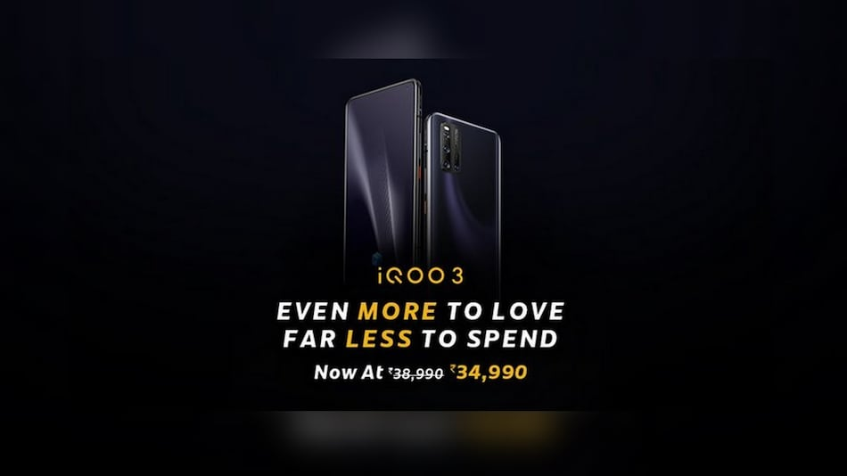 iQoo 3 Price in India Cut, Now Starts at Rs. 34,990