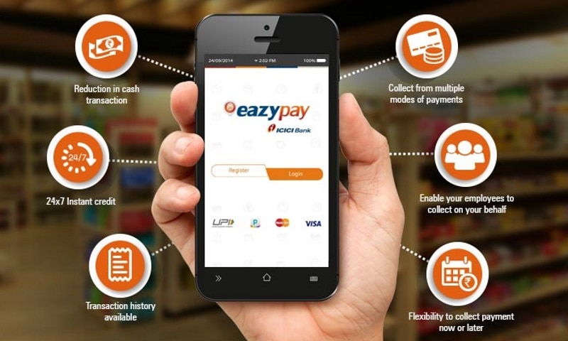 Download Eazypay mobile application Here (ICICI)