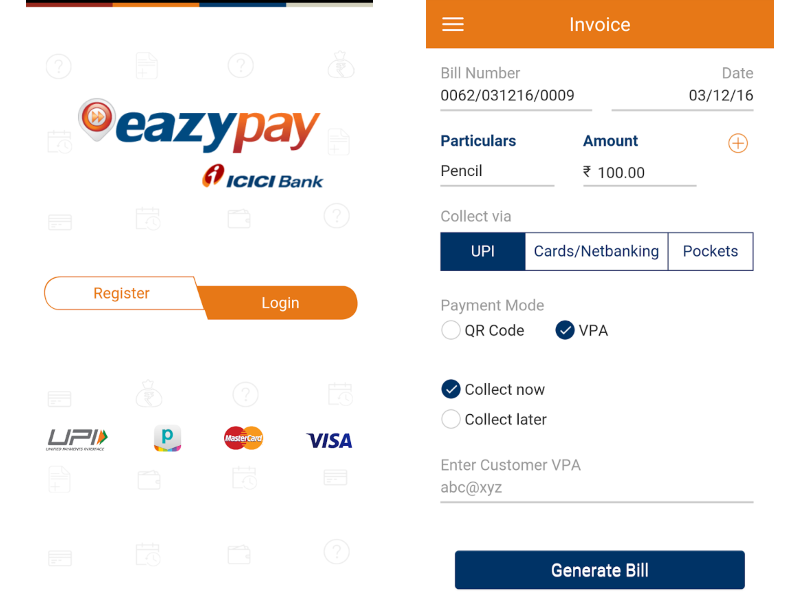 icici credit card billdesk bill payment
