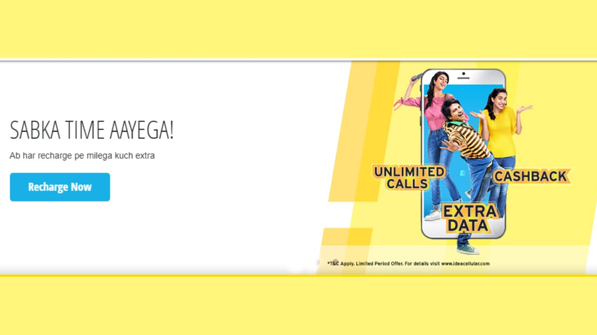 Idea Launches 'Har Recharge Pe Extra Offer', Assures Freebies on All Prepaid Recharges