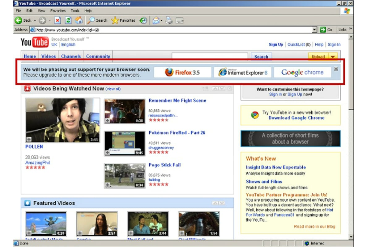 YouTube Engineers Conspired to Kill Internet Explorer 6, Former Developer Claims