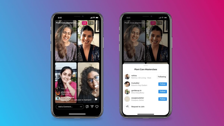Instagram Live Rooms Feature Launched, to Allows Up to Four People Live Stream Together