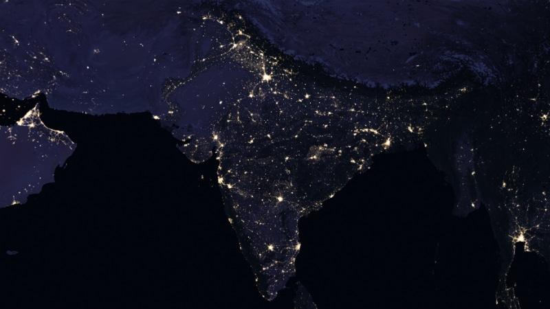 india 2012 nasa India Night Light Image NASA