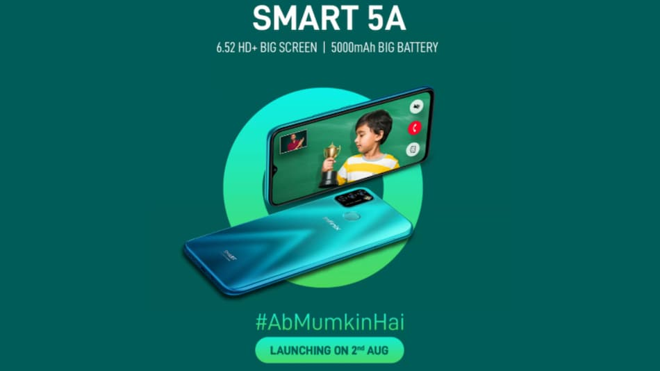 Infinix Smart 5A to Launch in India on August 2, Specifications Teased via Flipkart