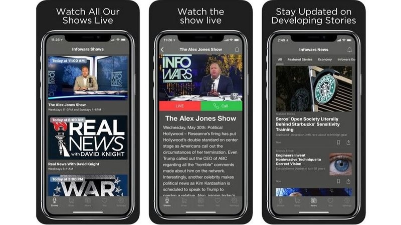 Infowars App Popularity Surges After Tech Firms Move Against Alex Jones