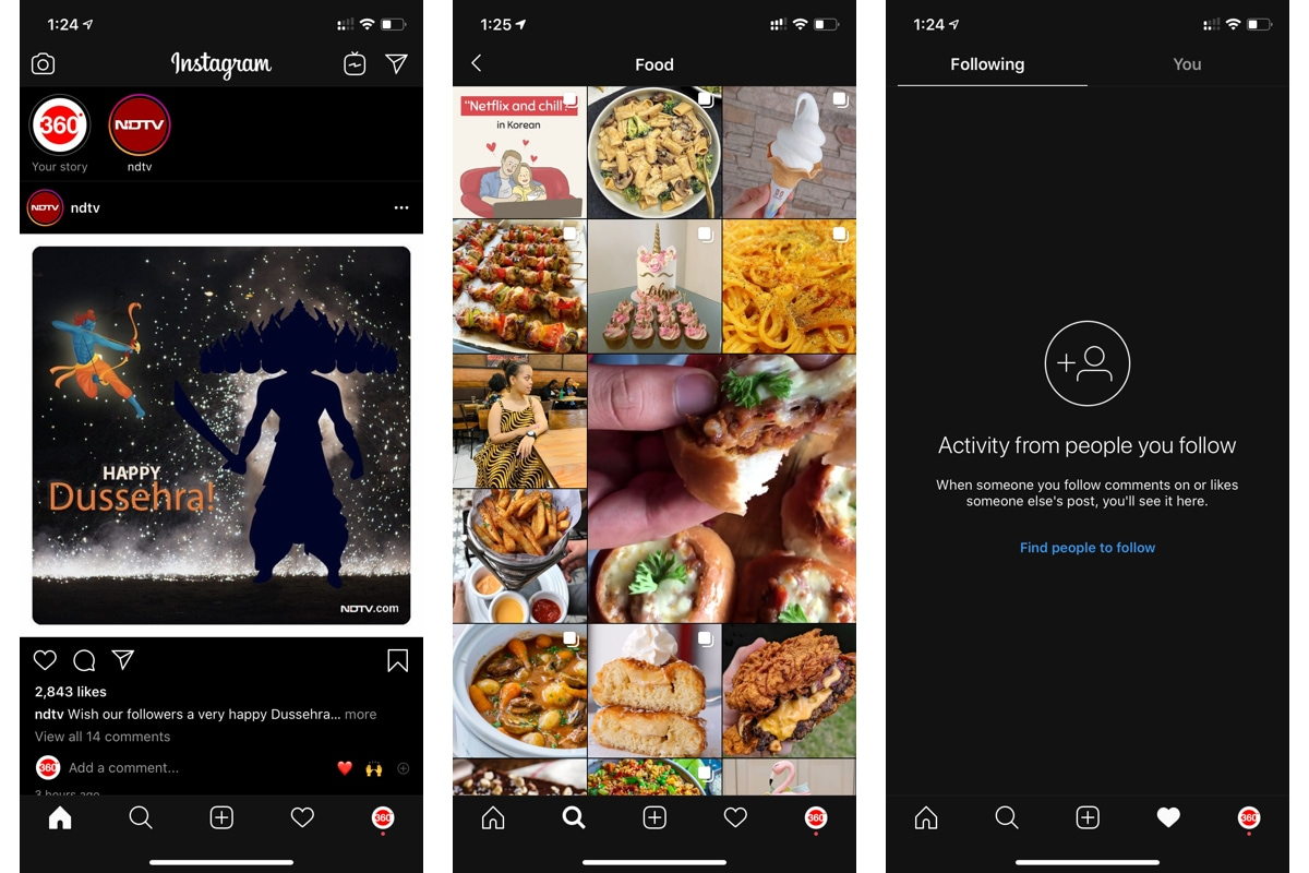 Instagram Gets Dark Mode Support on Android and iOS, Removes Following Tab for All Users
