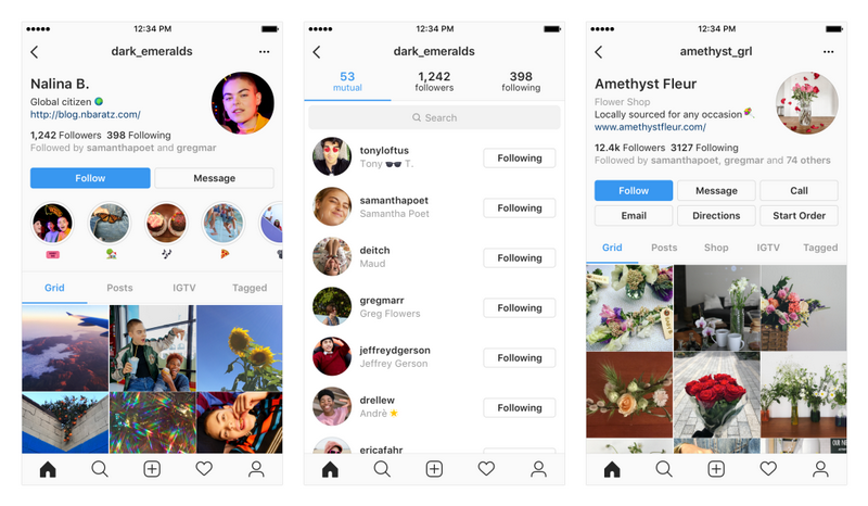Instagram Testing Redesign of Profiles, Including Changes to Features, Icons, Buttons