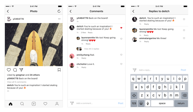 Instagram is rolling out threaded comments