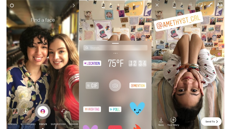 Instagram brings new focus mode to stories mention stickers on ios