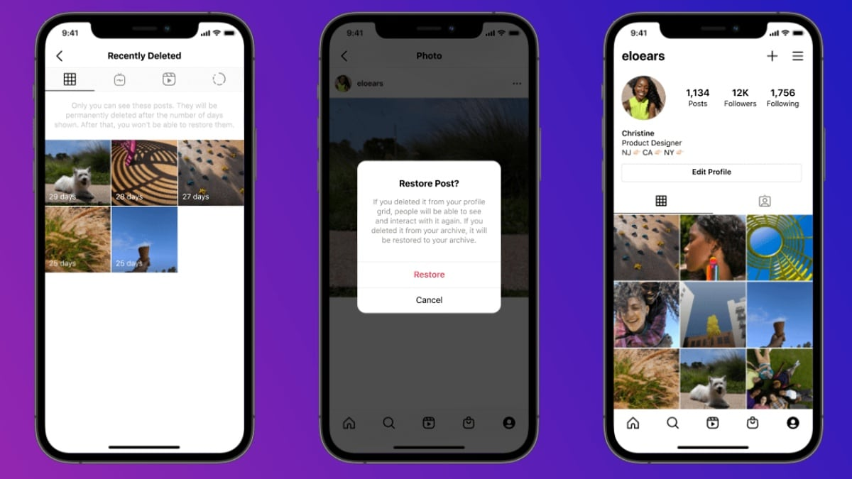 New Instagram feature to help bring back recently deleted content