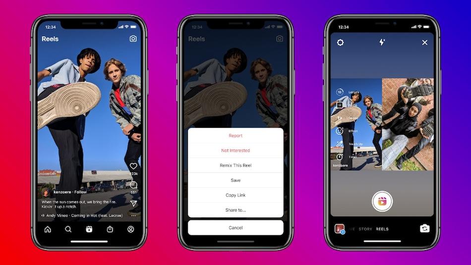 Instagram Reels पर अब बना सकेंगे TikTok जैसी Duets वीडियो, रोलआउट हुआ नया फीचर 'Remix'