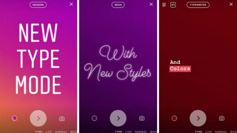 Instagram Launches 'Type' Mode for Text-Only Stories