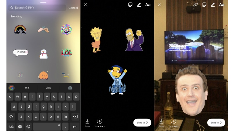 Instagram Stories Get GIF Stickers With Access to Giphy Database