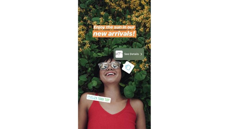 instagram stories shopping sticker Instagram Stories Shopping Sticker