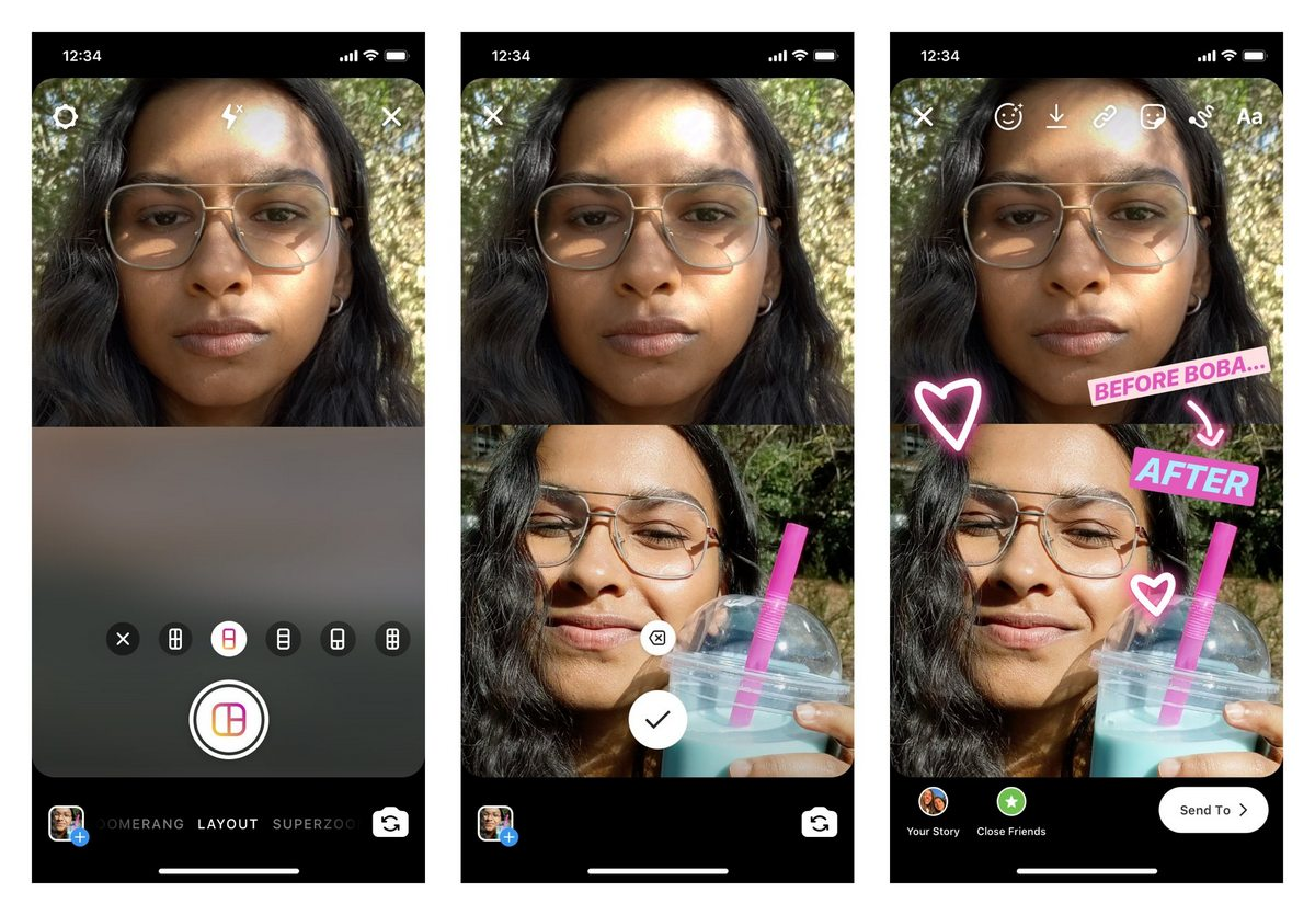 Instagram Now Lets Upload Multiple Photos in a Single Story With New 'Layout' Feature