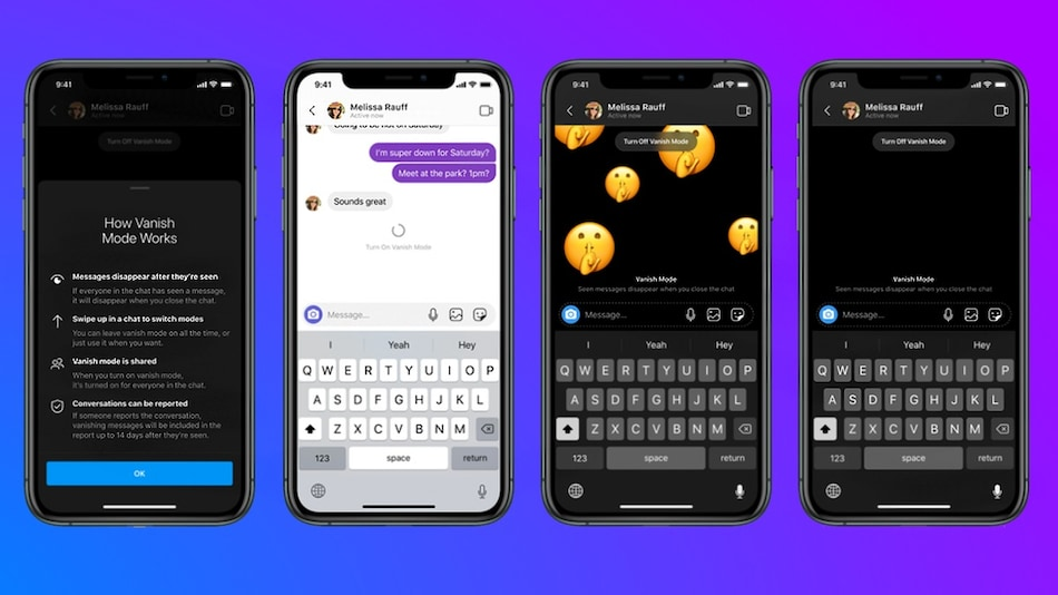 Facebook Launches Vanish Mode on Messenger and Instagram; Latter Also Gets Reels and Shop Buttons