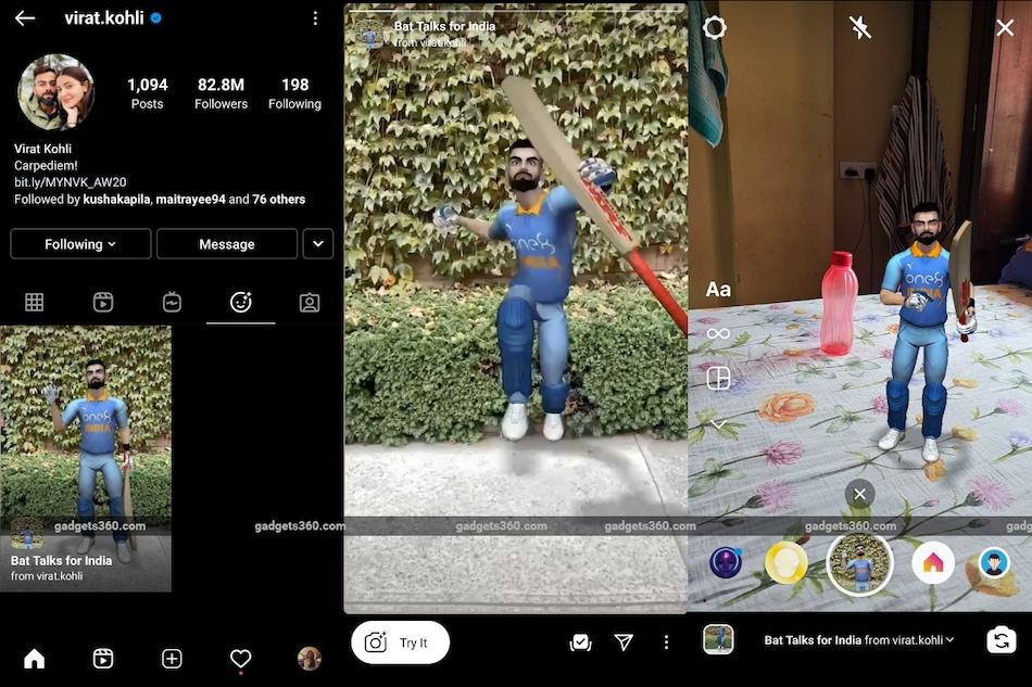 Virat Kohli AR Filter Released on Instagram, Facebook Ahead of Australia Series