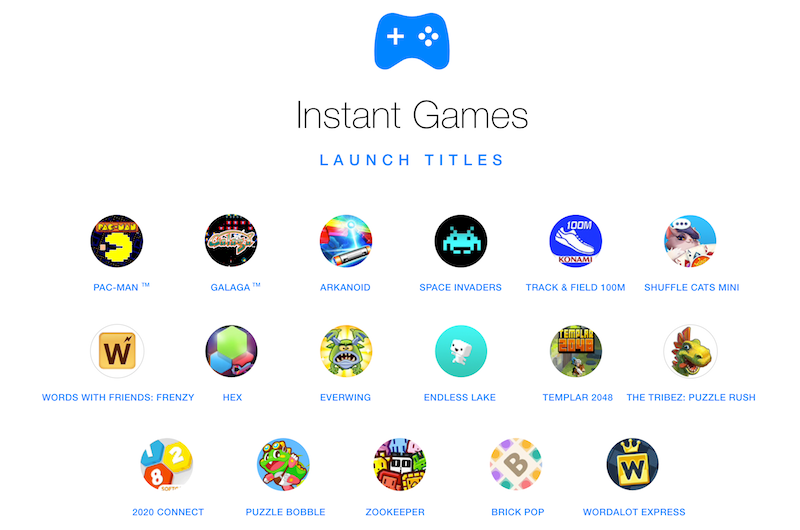 instant games launch titles Instant Games Titles