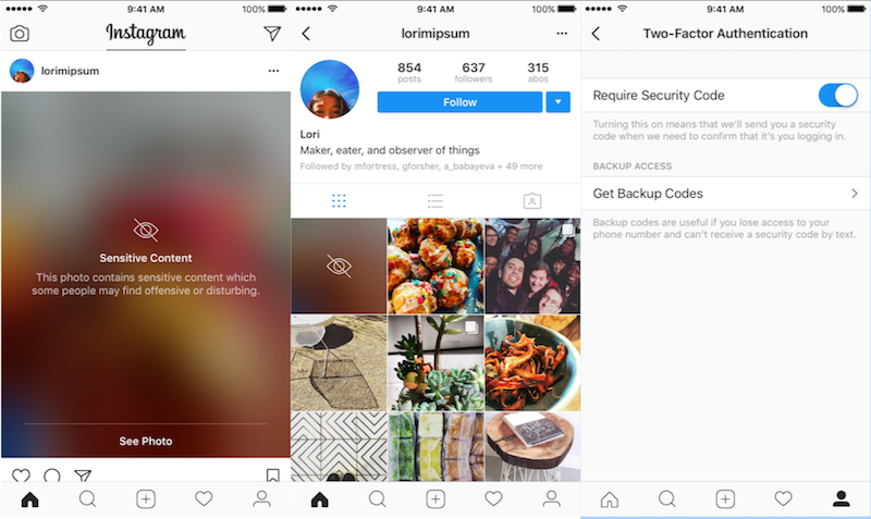 Instagram Begins Blurring Sensitive Content, Two-Factor Authentication Now Available to All