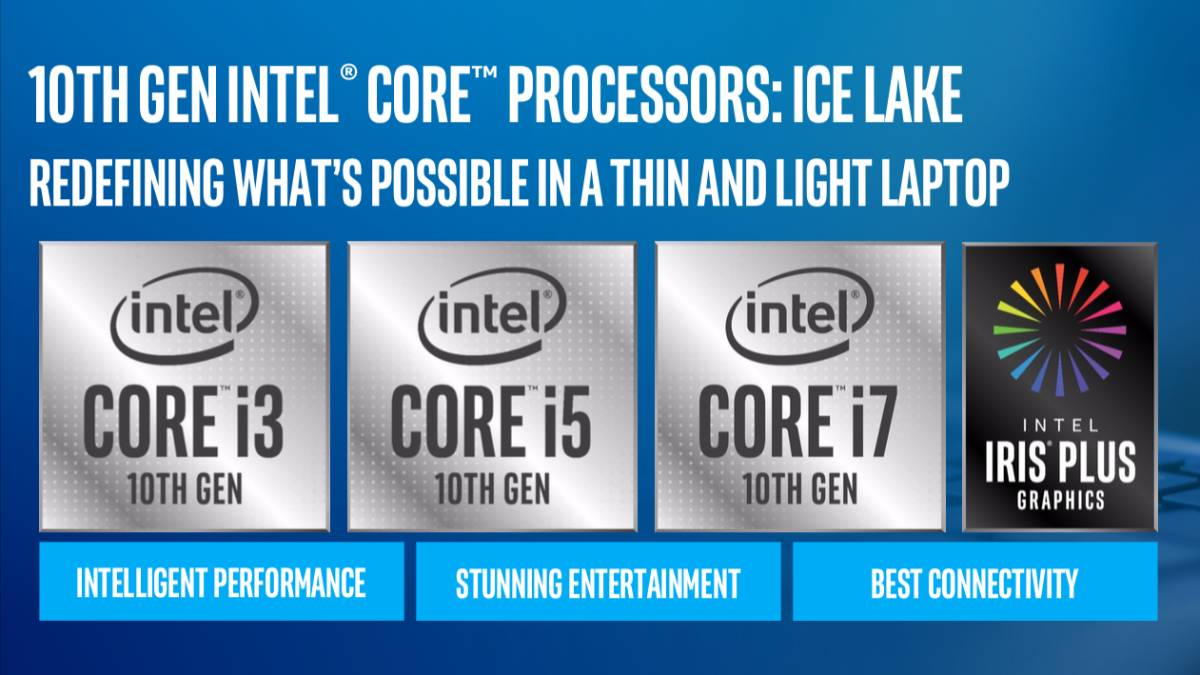 Intel launches 10th-Gen Ice Lake Core CPUs for mobile platforms