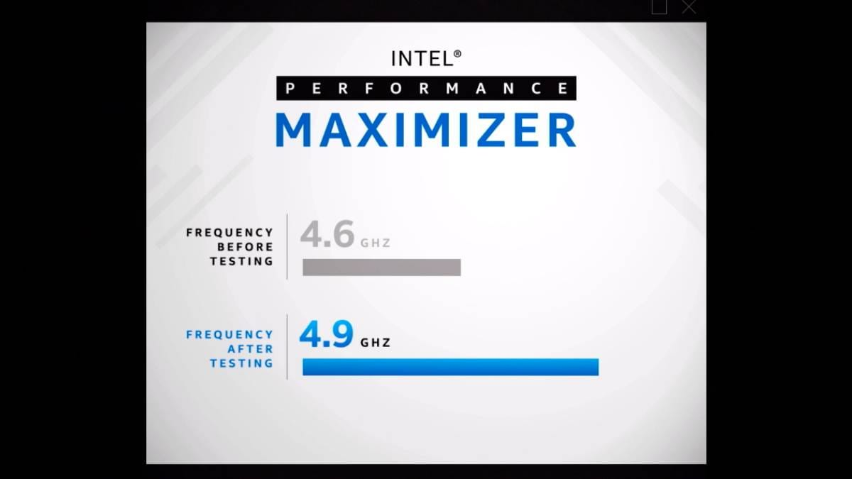 Intel Performance Maximizer Automatic Overclocking Tool for Unlocked 9th Gen Core CPUs Released