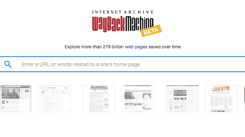 Internet Archive's Wayback Machine Adds Keyword Search as a Beta Feature