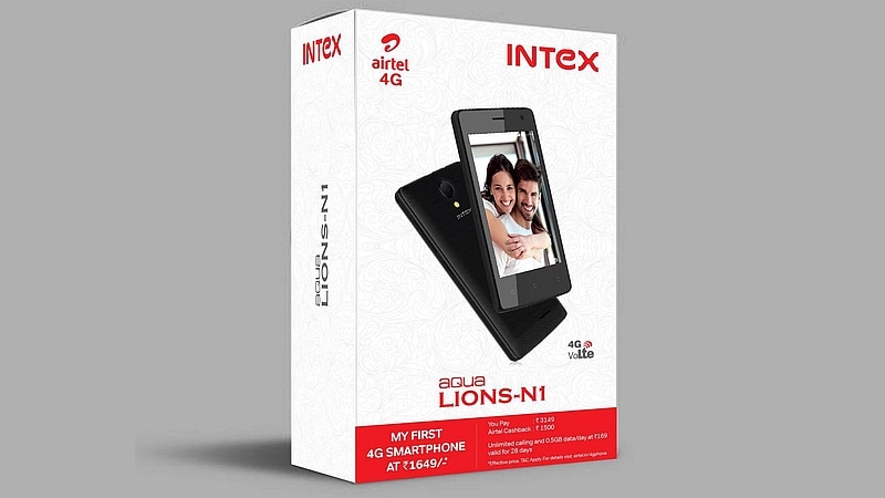 Airtel Partners Intex, Offers Aqua Lions N1 at an Effective Price of Rs. 1,649