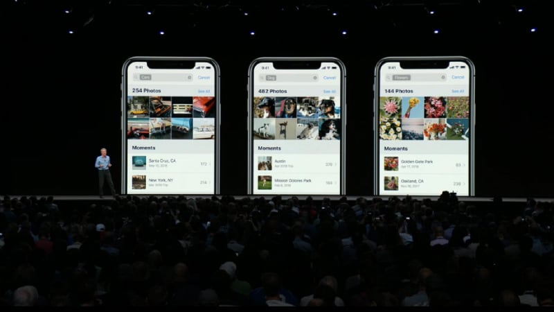 ios 12 photos inline iOS 12 WWDC 2018
