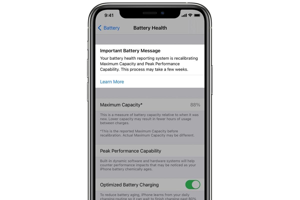 ios 14 5 battery health calibration image apple iOS 14.5  iOS  Apple