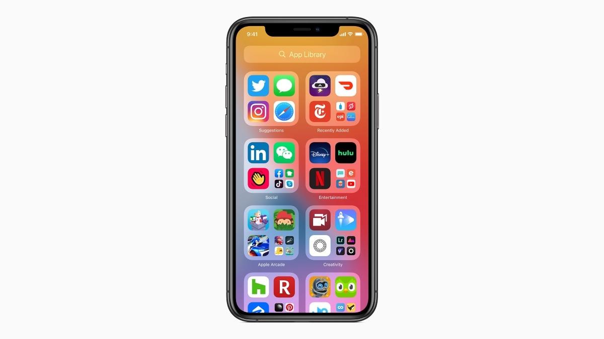 ios 14 app library image iOS 14