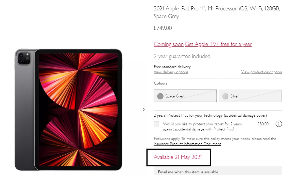 iPad Pro (2021) Models, iMac Listed to Go on Sale May 21 ...
