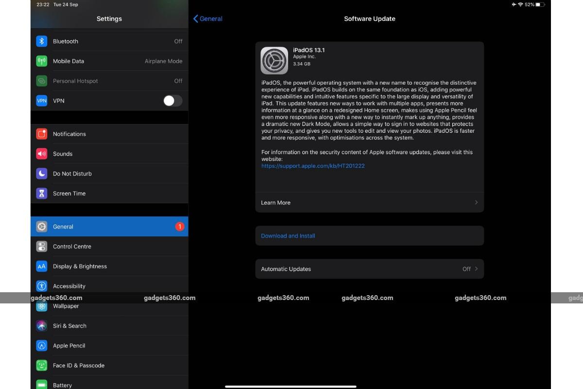 ipados update gadgets 360 Apple  iPadOS