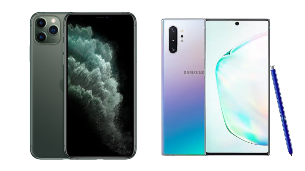 Iphone 11 Pro Max Vs Samsung Galaxy Note 10 Price In India
