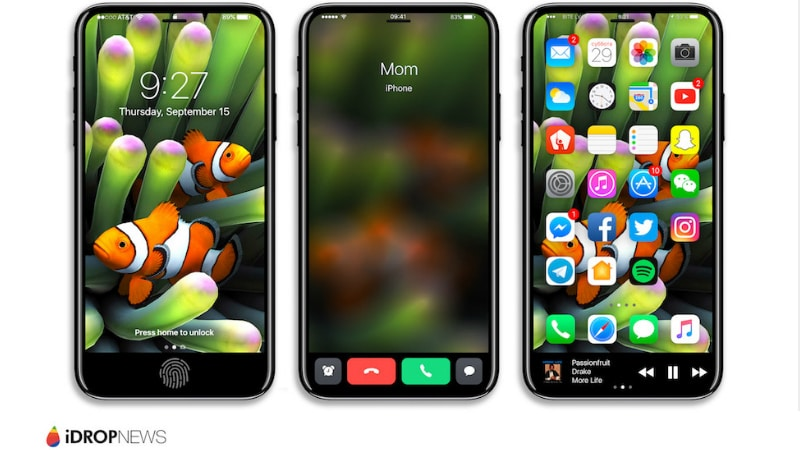 iPhone 8 May Indeed Sport Bezel-Less Display With Touch ID Embedded, Patent Tips