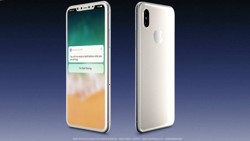 iPhone 8 White Variant Rendered; KGI Analyst Says No In-Screen Fingerprint Sensor