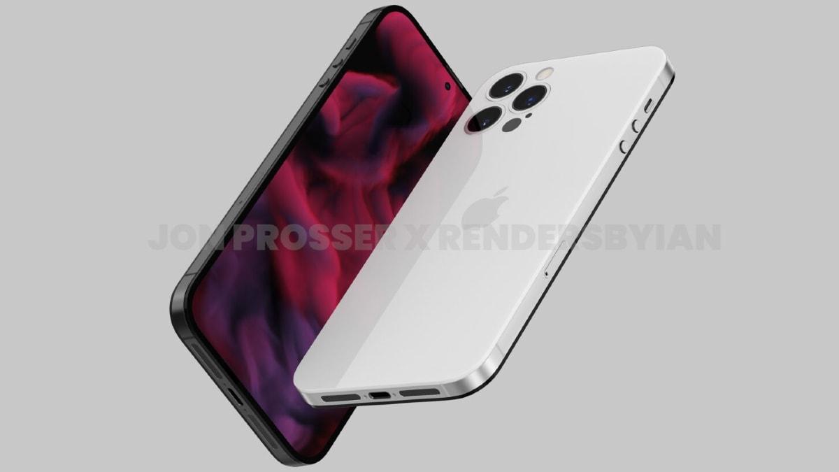 iphone 14 pro max render image apple jon prosser iPhone 14 Pro Max