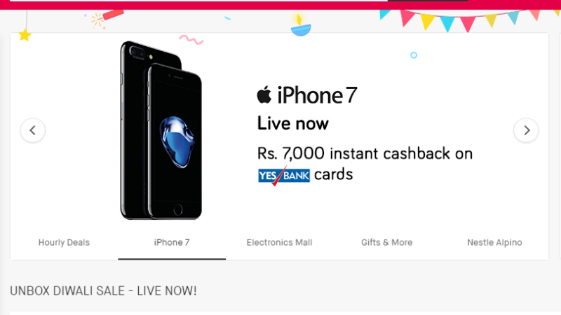 Snapdeal Sale Offers Include Rs. 7,000 Discount on iPhone 7 and More