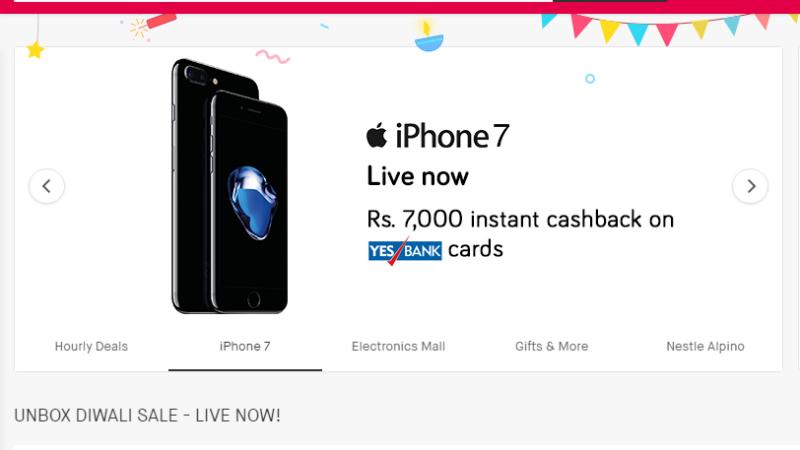 स्नैपडील दिवाली सेलः आईफोन 7 स्मार्टफोन पर 7,000 रुपये की छूट