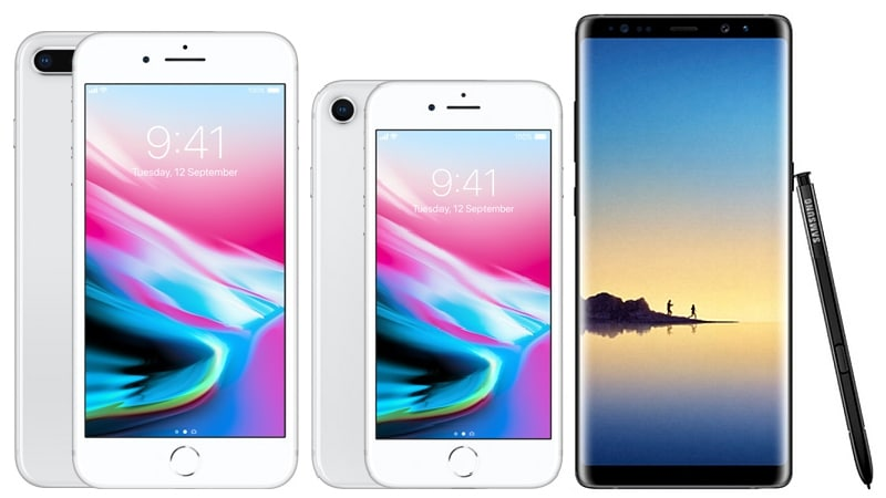 iPhone 8 vs iPhone 8 Plus vs Samsung Galaxy Note 8: Price, Specifications, Features Compared