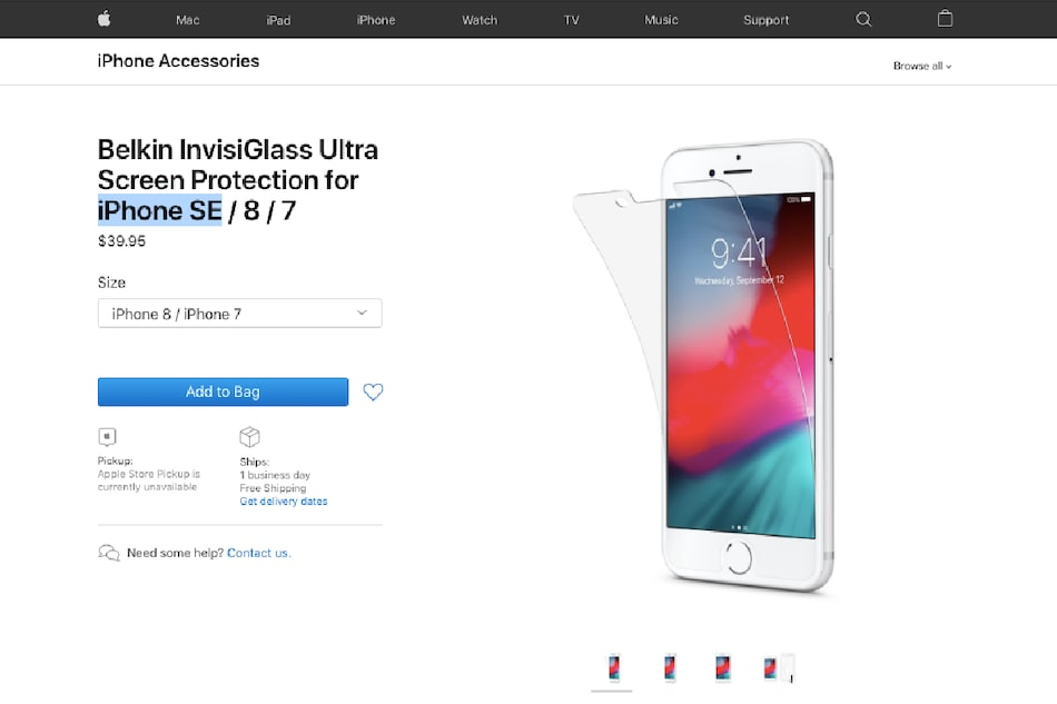 Apple Store Tips iPhone SE Branding for iPhone 9, Storage and Colour Variants Leaked