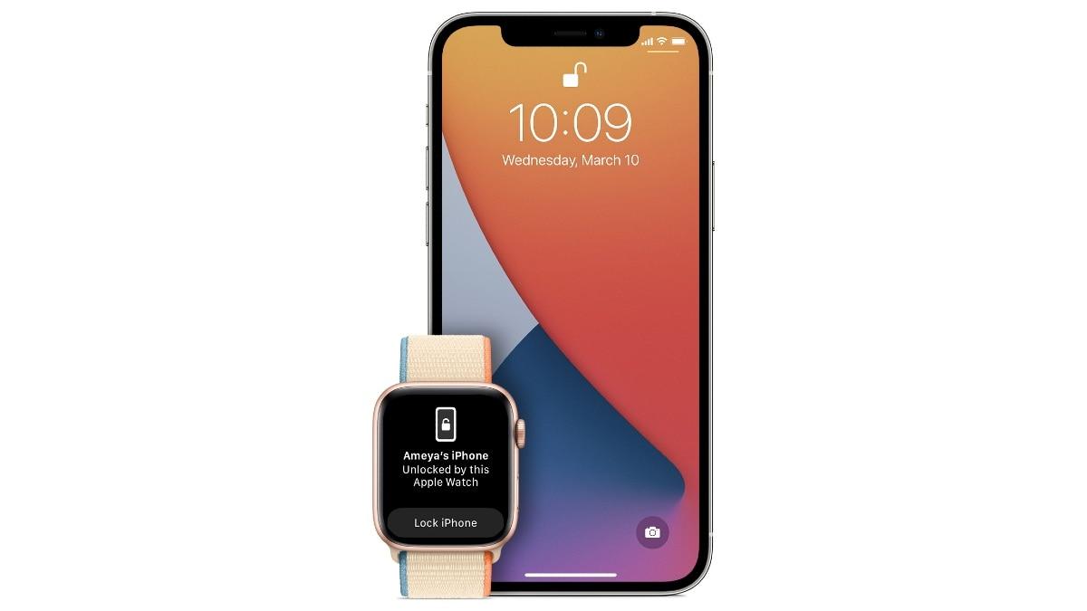 iphone unlock apple watch ios 14 5 image apple iPhone Apple Watch