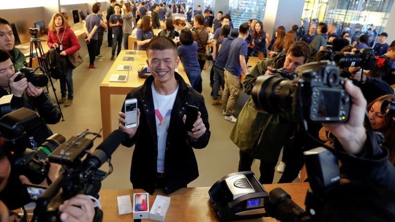 iPhone X Hits the Spot as Long Queues Return From Sydney to Shanghai